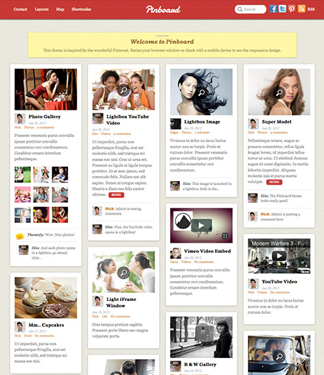 pinboard - pinterest wordpress theme