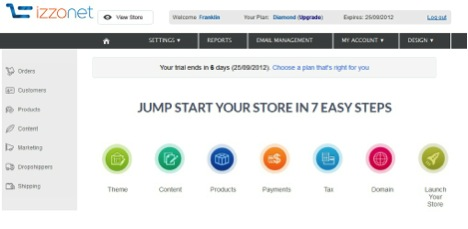 izzonet ecommerce software review