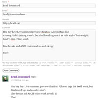 live comment preview wordpress plugin