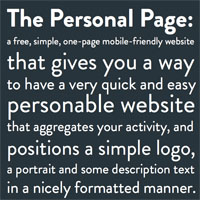 the personal page template