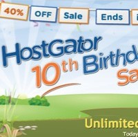 hostgator birthday sale - 40% discount