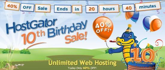 hostgator 40% discount