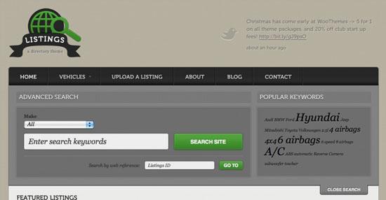 listings wordpress directory theme