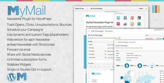 mymail newsletter plugin for wordpress
