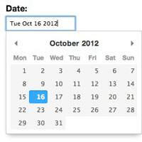 pikaday javascript datepicker