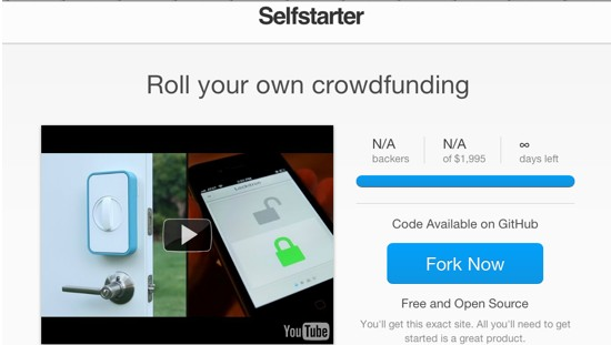 selfstarter - open source solution for creating crowdfunding websites