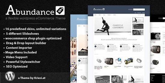 abundance theme screenshot