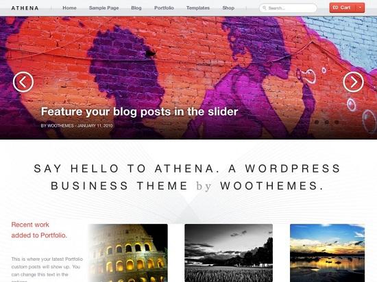athena theme screenshot