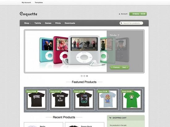 coquette theme screenshot