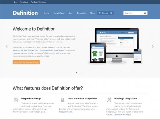 definition1 theme screenshot