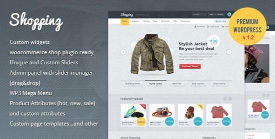 shopping theme screenshot