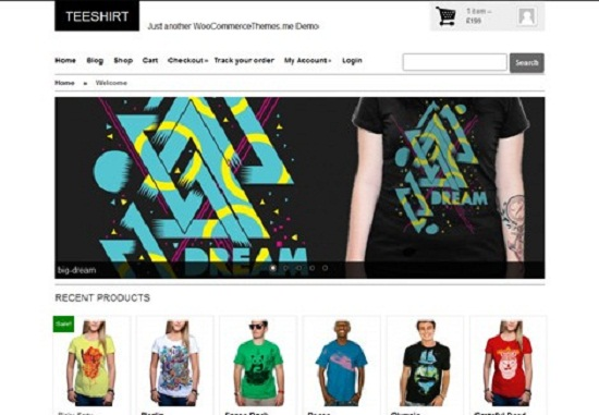 teeshirt2 theme screenshot