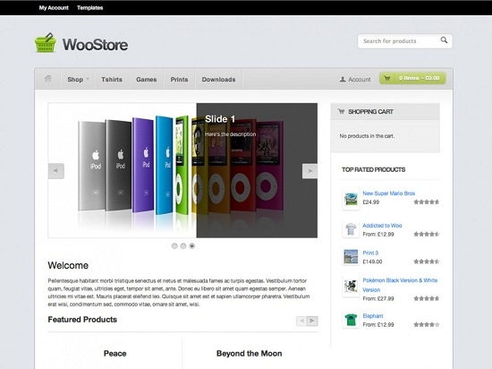 woostore theme screenshot