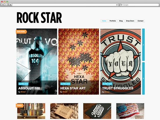 rockstar wordpress portfolio theme