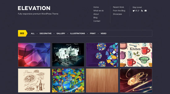 elevation wordpress portfolio theme