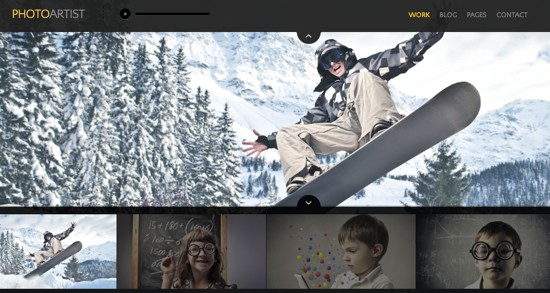 PhotoArtist WordPress portfolio theme