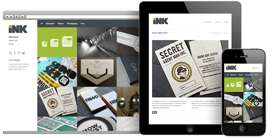 Ink portfolio wordpress theme