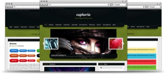 euphoria magazine wordpress theme