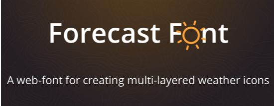 forecast font - web font