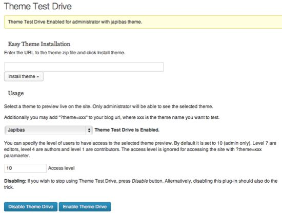 test a WordPress theme without affecting users
