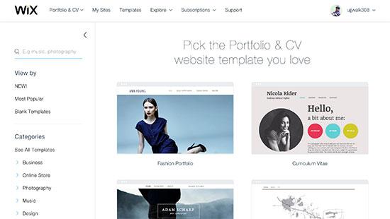 wix.com template