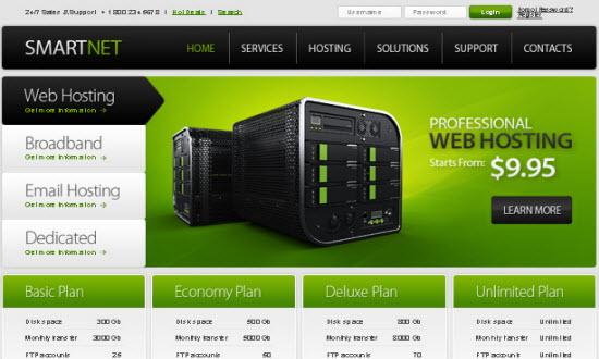 free html5 webhosting templates